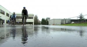 employees bike ride durning work
